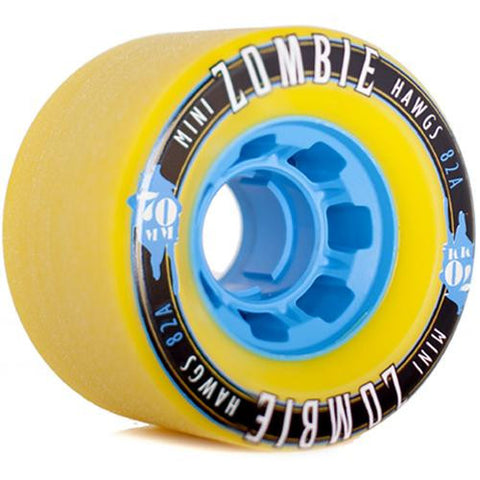 Hawgs Longboard Wheels: Mini Zombies 70mm 82a Yellow Wheels- Edge Boardshop