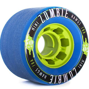 Hawgs Longboard Wheels: Mini Zombies 70mm 78a Blue Wheels- Edge Boardshop