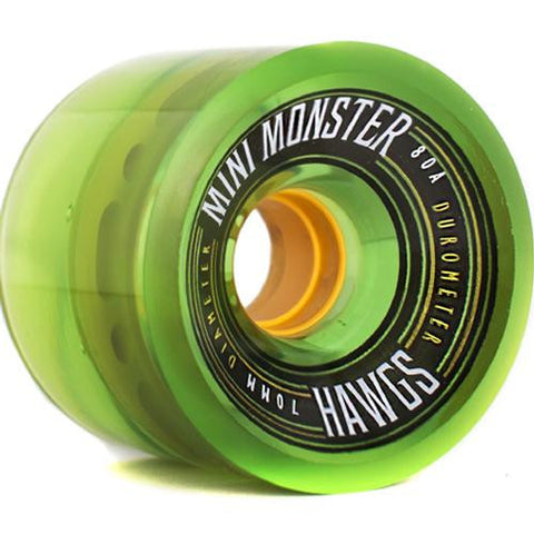 Hawgs Longboard Wheels:  Mini Monsters 70mm 80a Green Wheels- Edge Boardshop