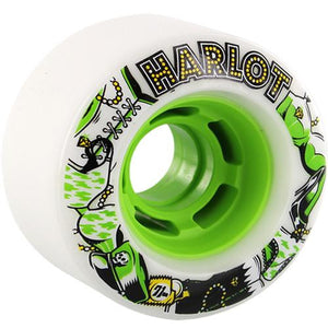 Venom Longboard Wheels: Harlot 71mm 80a Green
