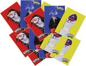 BAKER SKATEBOARDS SOCK PUPPETS 12/PACK ASSORTED DECALS