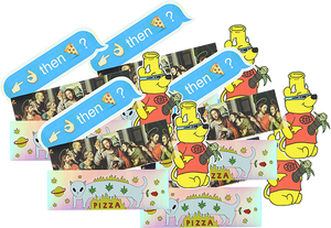 PIZZA STICKER PACK#6 20/PACK ASSORTED DECALS