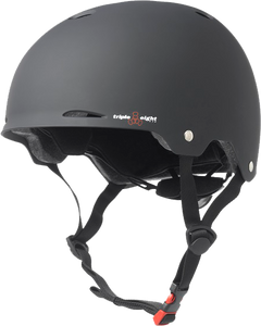 TRIPLE 8 GOTHAM HELMET L/XL-BLACK RUBBER cpsc/astm