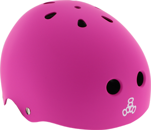 T8 LIL 8 HELMET NEON PINK RUBBER cpsc