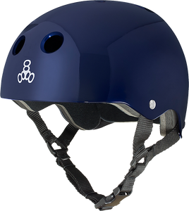 TRIPLE 8 HELMET BLUE METALLIC/STD.LINER SM