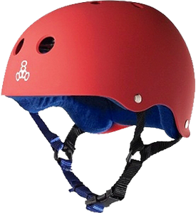 T8 HELMET RED RUBBER/BLUE L