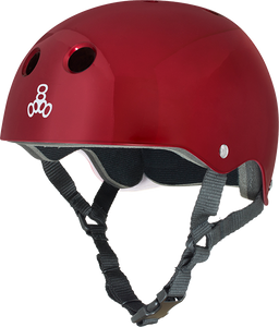 TRIPLE 8 HELMET RED METALLIC/STD.LINER S