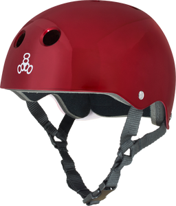 TRIPLE 8 HELMET RED METALLIC/STD.LINER L
