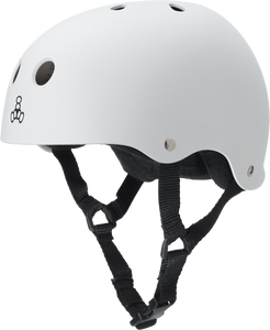 TRIPLE 8 HELMET WHITE RUBBER L