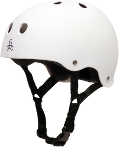 T8 HELMET WHITE RUBBER XL