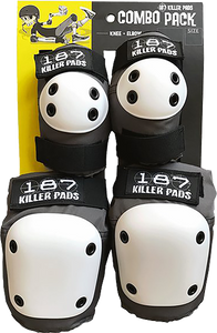 187 Killer Pads COMBO PACK KNEE/ELBOW PAD SET XS-GREY