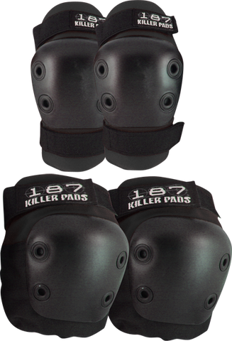 187 Killer Pads COMBO PACK KNEE/ELBOW PAD SET XS-BLACK