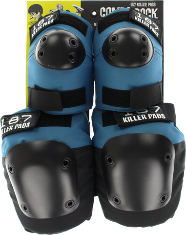 187 Killer Pads COMBO PACK KNEE/ELBOW PAD SET S/M-SLATE BLUE