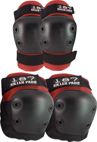 187 Killer Pads COMBO PACK KNEE/ELBOW PAD SET S/M-RED/BLK