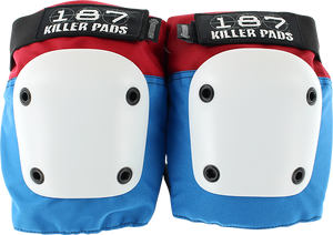187 Killer Pads FLY KNEE PADS M-RED/WHT/BLU W/WHT