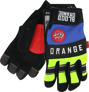 BLOOD ORANGE KNUCKLES SLIDE GLOVES S/M-BK/BLU/NEON