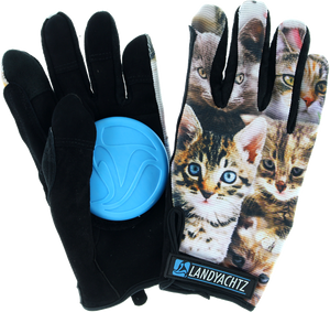 LANDYACHTZ CAT PATTERN SLIDE GLOVES XS