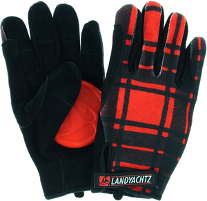 LANDYACHTZ PLAID SLIDE GLOVES S-RED/BLK