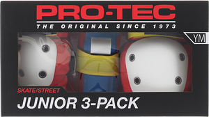 PROTEC JUNIOR 3 PACK BOX YM-RETRO knee/elbow/wrist