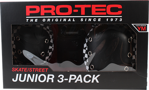 PROTEC JUNIOR 3 PACK BOX YM-CHECK BLK/WHT