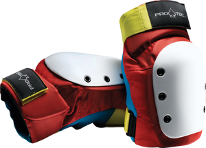 PROTEC STREET KNEE XL-RETRO(RED/BLUE/YEL)