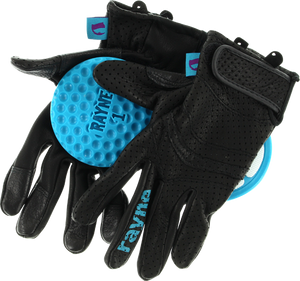 RAYNE HIGH SOCIETY V2 SLIDE GLOVES XS-BLACK/CYAN