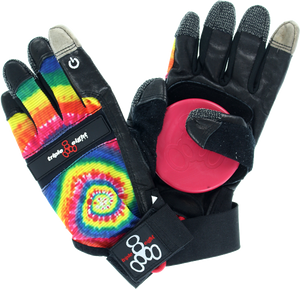 T8 DOWNHILL SLIDE GLOVES L/XL-TIE DYE/BLK