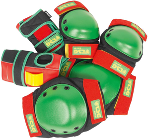 TSG BASIC PAD SET M-RASTA knee,elbow,wrist