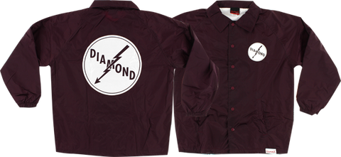 DIAMOND LIGHTNING COACHES JACKET XXL-BURGUNDY