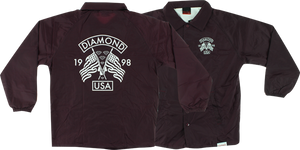 DIAMOND USA COACHES JACKET M-BURGUNDY