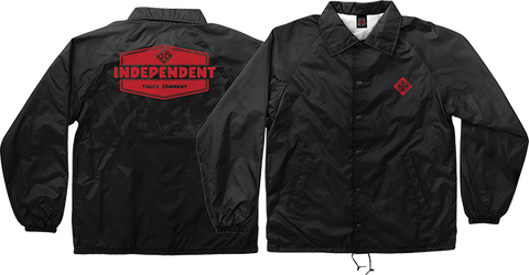 INDEPENDENT INDUSTRY COACH WINDBREAKER M-BLK/RED
