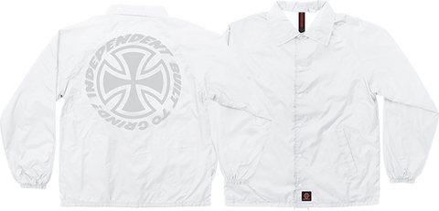 INDEPENDENT SPEED KILLS COACH WINDBREAKER XL-WHITE