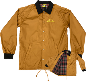 KROOKED SKATEBOARDS SMOKING JACKET S-BROWN/PLAID