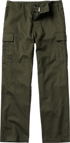 GHETTO WEAR CARGO PANTS 32-ARMY GREEN