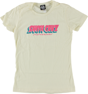 SANTA CRUZ FLOW STRIP GIRLS SS L-IVORY