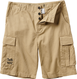 GHETTO WEAR CARGO SHORTS 28-KHAKI