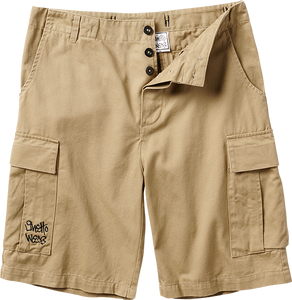 GHETTO WEAR CARGO SHORTS 36-KHAKI