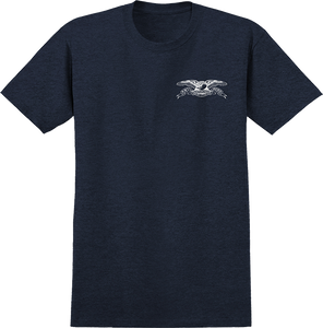 ANTI HERO STOCK EAGLE SS M-NAVY HEATHER/WHT