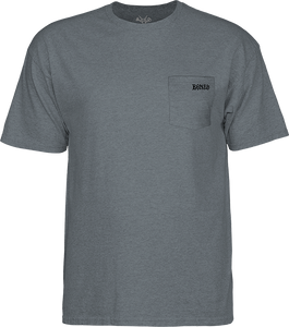BONES PETEY SS XL-GRAPHITE HEATHER