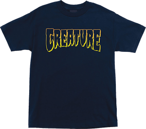 CREATURE LOGO OUTLINE SS M-NAVY
