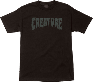 CREATURE SHREDDED SS S-BLACK