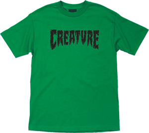 CREATURE SHREDDED SS L-KELLY GREEN