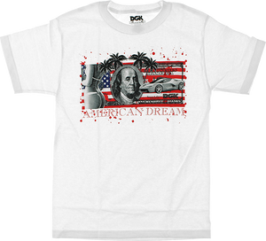 DGK AMERICAN DREAM BILL SS S-WHITE