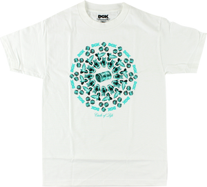 DGK CIRCLE OF LIFE SS S-WHITE