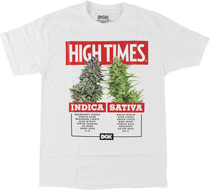DGK HIGH TIMES OPTIONS SS S-WHITE