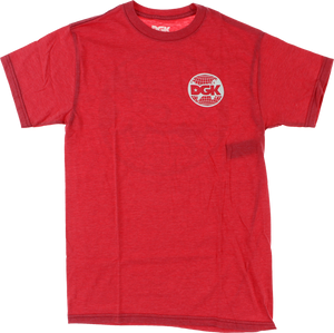 DGK WORLD WIDE SS M-RED HEATHER
