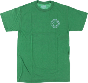 DGK WORLD WIDE SS L-KELLY GREEN HEATHER