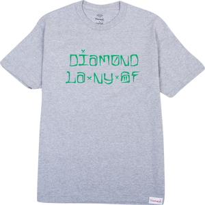 DIAMOND CITIES SS S-HEATHER GREY sale