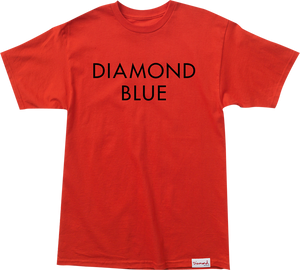DIAMOND SUPPLY CO. BLUE SS XL-RED/BLK