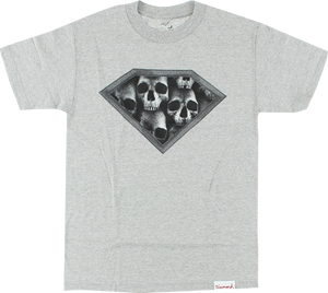 DIAMOND DMND SKULLS SS S-HEATHER GREY